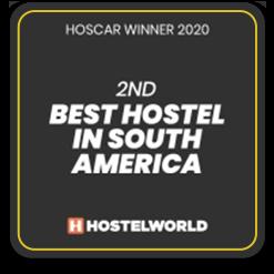 2020 - 2nd Best Hostel in SA - Ô de Casa Hostel